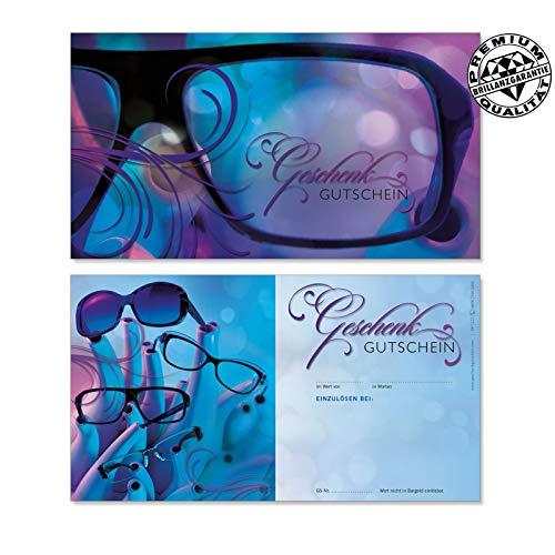 10 Gutscheinkarten Geschenkgutscheine. Gutscheine für Optiker Brillen Optik. Optikgutschein. OP1222 geschenkgutschein gmbh