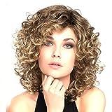 DANTB Perruque Synthétique Cheveux Nouveau Féminin Bruns Bouclés Ondulés Glamour...