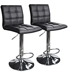 SOLD BY LEOPARD PRODUCTS is the real Bar stools. With a built in 360° swivel; High density foam upholstered in black faux leather; Constructed with polished chrome base and footrest Easily adjusts from counter to bar height from 21.5in to 31.5in high...