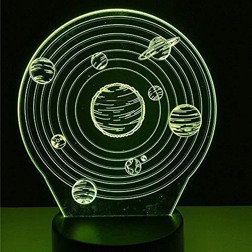 Festival Kreative 3D RGB Illusion Universum Planet Led Nachtlichter Vision Bunte Atmosphauml; Re Lampe Neuheit Geschenke Kind Kinder Schlafzimmer Dekor