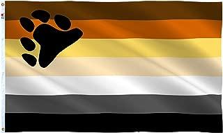 rhungift Bear Pride Flag 3x5Ft,LGBT International Bear Brotherhood Flag Banner|Fade-Resistant Dye Used for Vivid Colorswith Brass Grommets-100% Super Polyester Material -Complete Set Pride Banner