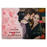 LolaPix Manta Fotografia Personalizada. Regalos San Valentin Personalizados. 75X105. Varios Diseños. Mantas Personalizadas por 1 Cara. Manta Suave Corazones