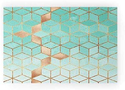 "Society6 Elisabeth Fredriksson Soft Gradient Aquamarine Welcome Mat, 30""x20"", Green"