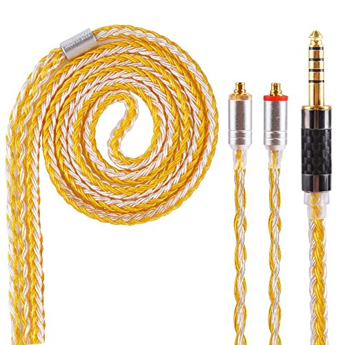 16 Core MMCX Replacement Cable,Upgrade Silver Plated Cable Replacement Audio Cable for SHURE UE900 SE215 SE315 SE846 SE535 TIN Audio T2 f9 LZ, Better Earphones (MMCX 4.4mm)