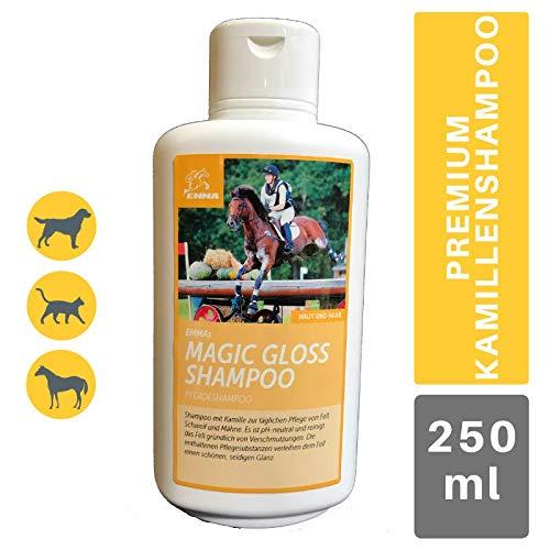 EMMA ♥ Champú para Caballos Cuidado del Caballo Cuidado del Caballo Cuidado del Pelo, Cuidado del Pelo, Crin y Cola, Brillo Sedoso, Suave, pH Neutro, 500 m