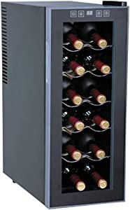 SPT WC-1271 Thermo-Electric Slim Wine Cooler, Black Cabinet with Platinum Trim, 12 standard bottles/35L capacity, Slim design, Touch sensitive control panel with LED temperature display