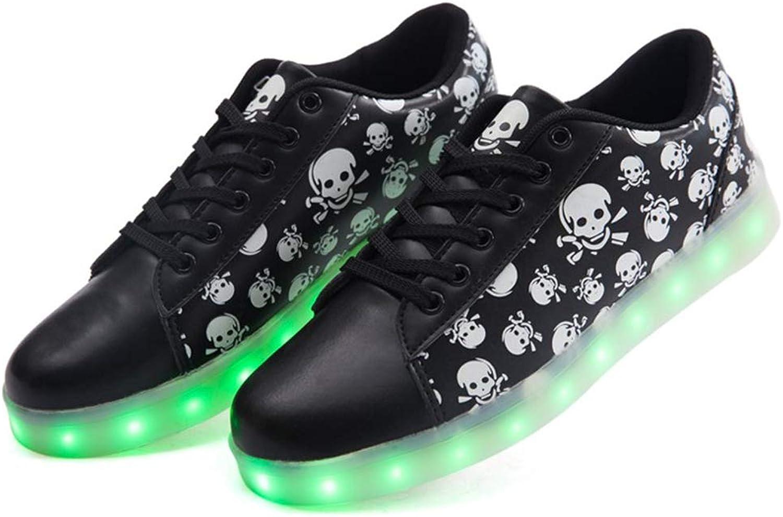 Peng ye Shantou Luminous LED Lighting Luminous shoes shoes Flashing Dance shoes Sweat-absorbent Breathable (color   A, Size   38EU)