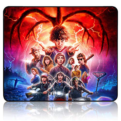 Str_Anger Things Mouse Pad - Office Game Mouse Pad Cool Manga Anime Durable Anti-Slip Non-Slip Mouse Pads Mat Mousepad for Laptop Office 11.81 x 9.84 x 0.12Inch