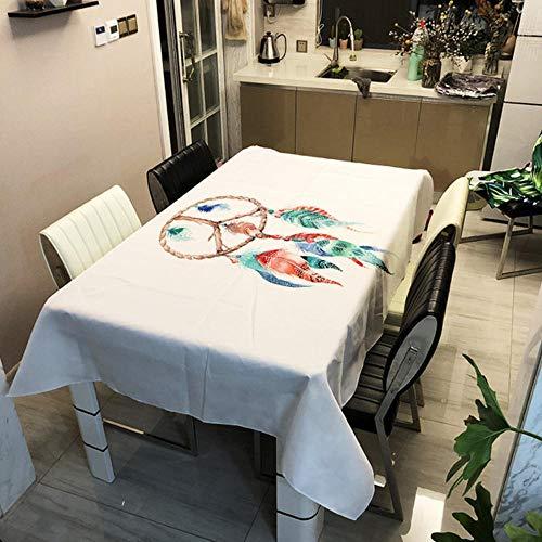 GHGD Mantel Decorativo con Estampado De Sueños Naturales De 90X90 Cm, Poliéster para El Hogar, Impermeable, Rectangular, Mantel para Mesa De Cena, Tapete para Picnic, Cubierta para Té Y Café