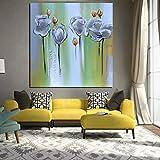sanzangtang Pintura sin Marco HD Abstracto Blanco Rojo Flor de Amapola Pintura al óleo sobre Lienzo decoración Moderna del Arte popCGQ5492 30X30cm