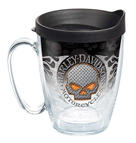 Harley-Davidson Flames Willie G Skull Tervis Mug w/Black Lid, 16 oz. 1287292