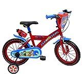 Disney - Vélo Enfant garçon Pat Patrouille Skye Everest - 14 Pouces (3/5 Ans) - Coloris Rouge/Bleu - (Distributeur Officiel)