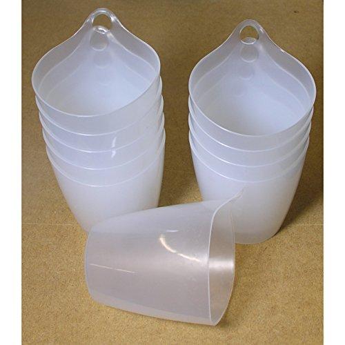 Excellent Houseware 10x Hänge-Organizer Becher Eimer Topf Behälter mit Öse aus Kunststoff im Set
