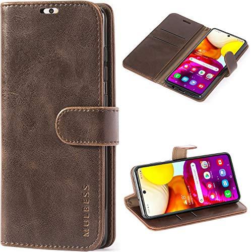 Mulbess Cover per Samsung Galaxy A71, Custodia Pelle con Magnetica per Samsung Galaxy A71 [Vinatge Case], caffè Marrone