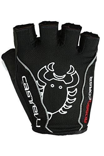 Castelli Rosso Corsa Classic Glove, color blanco,negro, talla M