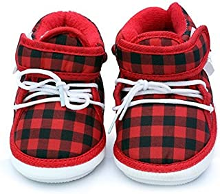 WTDESIGN Unisex Kids Chu Chu Cotton Shoe(for Age Group 6-24 Months -Colour Red & Blue)
