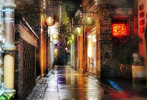 Yeele 10x8ft Colorful Light Photography Background Night View Blurred City Street High-Rise Building Photo Backdrop Studio Props Video Drape