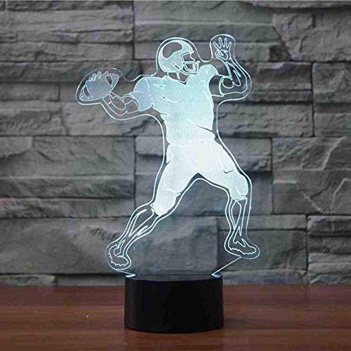 3D Rugby tafellamp slaapkamer decor kleur voetbal quarterback nachtlampje led baby slaap verlichting nachtkastje lamp ventilator geschenken