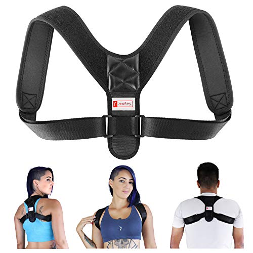2020 Version Perfect Adjustable Posture Corrector for Men and Women - Upper Back Brace for Clavicle Support and Providing Pain Relief from Neck Shoulder Upright Straightener Comfortable (Large) …