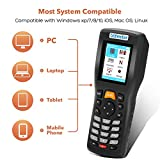 Trohestar N3 Mini Lettore Codici a Barre Bluetooth e 2.4GHz Wireless e Cablato 1D CCD Inventory Lettore Codici a Barre 16 MB di memoria 150m Gamma