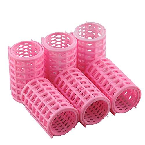 nicebuty 6 Pcs couleur aléatoire plastique Bigoudi Styling rouleau bigoudis Clips pour les femmes de bricolage bigoudi Rouleau 4.3 * 7 cm