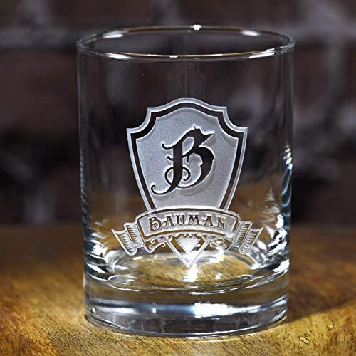 Engraved Whiskey, Scotch, Bourbon Rocks Glass Gift Set Of 2