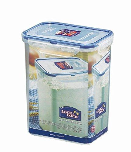 LOCK & LOCK Frischhaltedose, Vorratsbox, Vorratsdose, 1,8 Liter rechteckig, hoch, 6 Stück, 151 x 108 x 185 mm, transparent