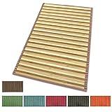 ARREDIAMOINSIEME-nelweb Tappeto Bamboo Legno Stuoia Cucina Bagno Camera Degradè Varie Misure Passatoia bambù Retro Antiscivolo MOD.Bamboo 50X180 Porpora (L)