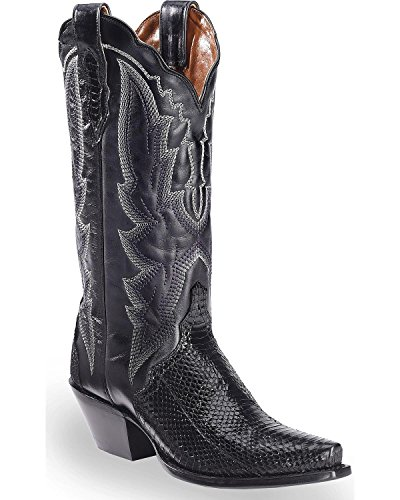 Dan Post Women's Water Snake Triad Cowgirl Boot Snip Toe Black 8.5 M