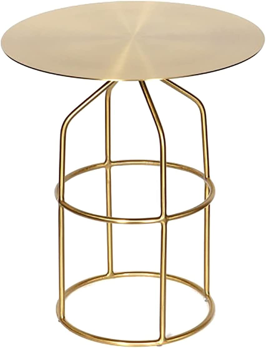 Shelf End Table Wholesale Round Side Bracket Today's only Cof with Metal Modern