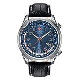 Swiss Military Hanowa Reloj Analógico para Hombre de Cuarzo con Correa en Cuero 06-4293.04.003