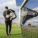 QUICKPLAY Target Sax 2 in 1 - Rete da calcio e borsa per palloni da calcio, con bersaglio multisport e borsa per attrezzatura