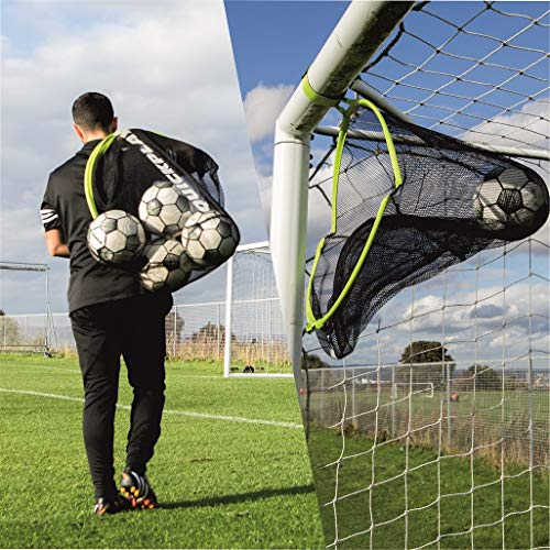 QUICKPLAY Target Sax 2in1 Soccer Target Net and Soccer Ball Bag | Multi-Sport Target Net and Equipment Bag