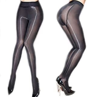 7ac16b1dd71 ❤️Women s Sheer Tights Stockings Oil Shiny Stockings Pantyhose Sexy Silk  Pantyhose