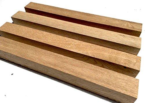 Legno massello di quercia – Mandrino per tornio – Quadrato per legno – Legno secco – Quartiere segato – 200mm – (1)