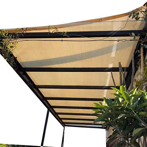 LJIANW Vela de Sombra Toldo Vela, Anti-UV HDPE Red De Sombreado Balcón Casero Toldos Barandilla Red De Seguridad Suculento Cubierta Vegetal Red De Sombrilla 22 Talla (Color : Beige, Size : 5x6m)