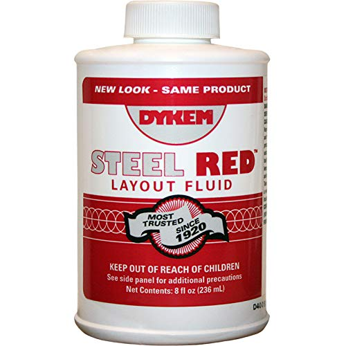 Dykem 04968 Red Layout Fluid - 8 oz Brush-In-Cap Bottle - 80496 [PRICE is per EACH]