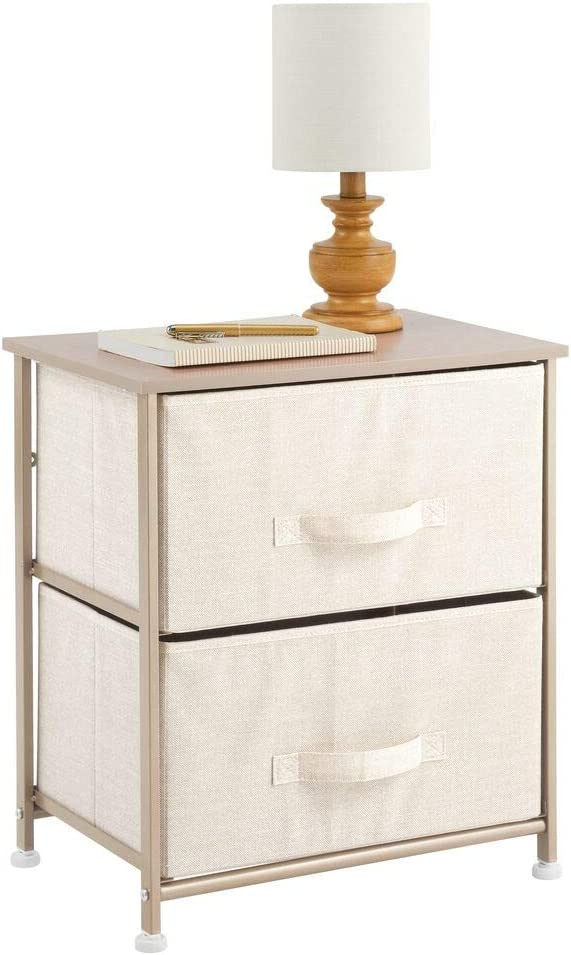 mDesign End Genuine Table Night Stand Storage Tower Sturdy Import Steel - Frame