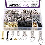 Swpeet 415Pcs Picture Hangers Kit with Screws, Heavy Duty Assorted Picture Hangers Assortment Kit for Picture...