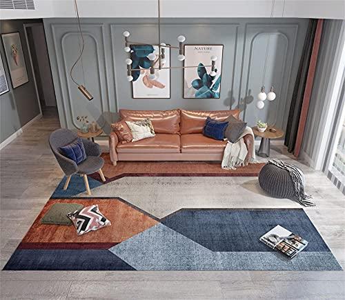 Tapis Ikea Grand Tapis D Entree Interieur Tapis régionaux. Les tapis géométriques créatifs bleu sont des piles courtes et sans poils, qui peuvent être utilisées pendant de nombreuses annéesTapis Fin 1