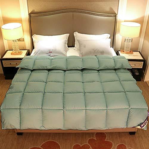 Goodlife-1 Bettdecke Ganzjahresdecke All Seasons King Size Duvet Comfort fühlt Sich an wie Daunen Anti Allergy Duvet Anti-Bacterial Quilt-180x220cm - 3kg_Grün