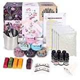 DIY Candle Making Kit – Make Your Own Scented Candles – Arts and Crafts Supplies for Kids, Teens, Adults – Natural Soy Wax – Large Size