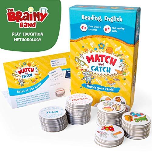 Match & Catch - Divertido Juego con Palabras en Ingles para niños - Juego de correspondencias - Juego de ortografía - Juego de búsqueda de Palabras - Juego para niños de 4 a 8 años