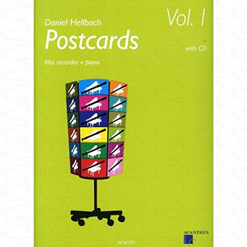 Postcards 1 - arrangiert für Altblockflöte - Klavier - mit CD [Noten/Sheetmusic] Komponist : HELLBACH DANIEL