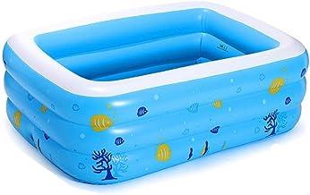 Bañera Bañera Inflable Espesar Aislamiento Bañera para Adultos Piscina Infantil Inflable Bañera Doble Plegable En La Bañera Cuatro Estaciones Disponibles (Color : Blue, Size : 117 * 70 * 40cm)