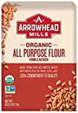 Arrowhead Mills Organic Unbleached All Purpose White Flour, 5 Pound Bag