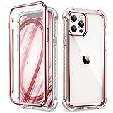 Dexnor Funda Compatible con iPhone 12 Pro MAX 6.7'', 360 Grados, Cuerpo Completo, Cubierta Protectora Delantera Trasera a Prueba de Golpes con Protector de Pantalla Incorporado - Oro Rosa