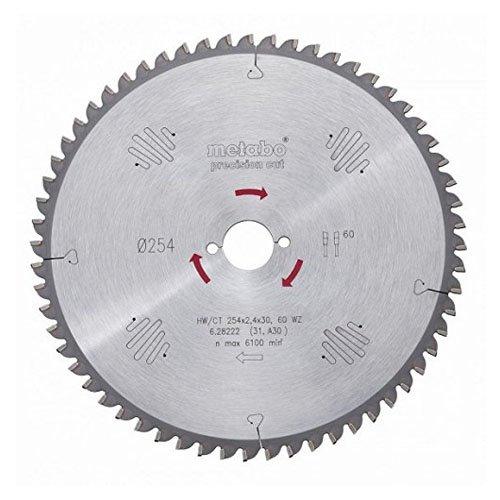Metabo Sägeblatt Precision Cut Wood-Professional (breites Einsatzspektrum; 24 Wechselzähne, Material: HW/CT) 628031000