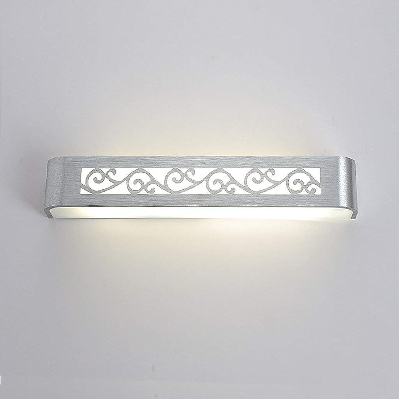 Ogsiwr - Badspiegel Lampen LDE Aluminiumspiegel Frontleuchte Wandspiegel Frontlampe Nachttischlampe Wandlampe Badezimmerbeleuchtung (Farbe  38cm LED 9W) (Farbe   58cm LED 16w, Gre   -)