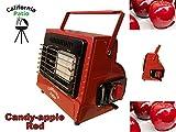 California Patio (カリフォルニアパティオ) カセットガスヒーター (キャンディアップルレッド/赤)  (屋外専用アウトドアヒーター)  (低温時装置ジェネレーター搭載) (ストーブ仕様)